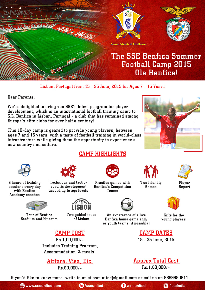 SSE Football Camp in Portugal at the Benfica Football Academy